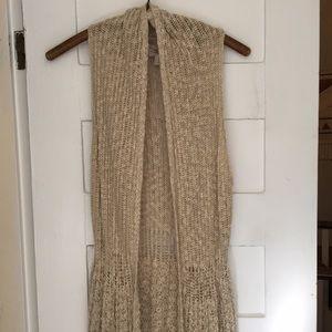 Forever 21 knit boho long vest